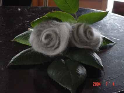 猫の抜け毛でバラ