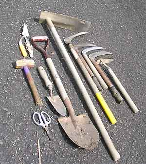 鋤、鎌など農具