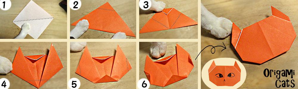 クリスマス 折り紙 折り紙 猫 折り方 : nekohon.jp