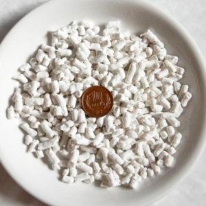 固まる流せる白い紙製の砂