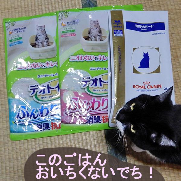猫砂袋、キャットフードの空き袋