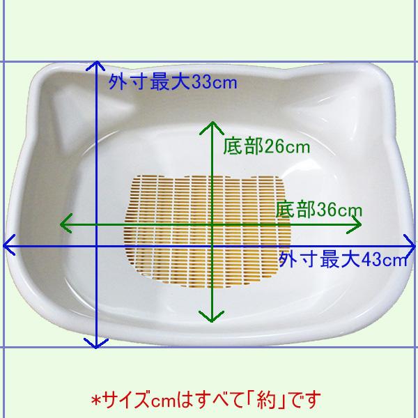 デオトイレ 子猫から体重5kgの成猫用 サイズ測定