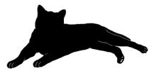 lay1 猫シルエット Cat Silhouette