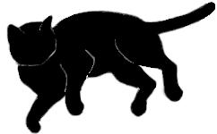 lay3 猫シルエット Cat Silhouette