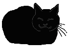 loaf1 猫シルエット Cat Silhouette