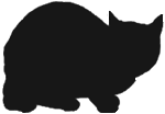 loaf12 猫シルエット Cat Silhouette