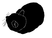 loaf14 猫シルエット Cat Silhouette