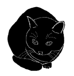loaf16 猫シルエット Cat Silhouette
