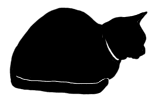 loaf4 猫シルエット Cat Silhouette