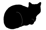 loaf5 猫シルエット Cat Silhouette