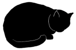 loaf6 猫シルエット Cat Silhouette