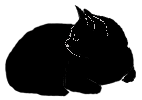 loaf8 猫シルエット Cat Silhouette