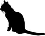 sit1 猫シルエット Cat Silhouette