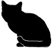 sit13 猫シルエット Cat Silhouette