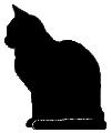 sit14 猫シルエット Cat Silhouette