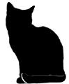 sit16 猫シルエット Cat Silhouette