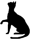 sit17 猫シルエット Cat Silhouette