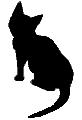 sit18 猫シルエット Cat Silhouette