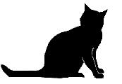 sit19 猫シルエット Cat Silhouette