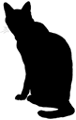 sit2 猫シルエット Cat Silhouette
