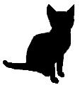 sit21 猫シルエット Cat Silhouette