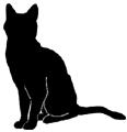 sit22 猫シルエット Cat Silhouette
