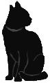sit24 猫シルエット Cat Silhouette