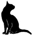 sit25 猫シルエット Cat Silhouette