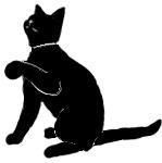 sit27 猫シルエット Cat Silhouette