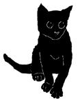 sit28 猫シルエット Cat Silhouette