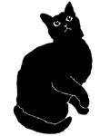 sit30 猫シルエット Cat Silhouette