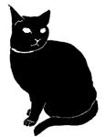 sit33 猫シルエット Cat Silhouette