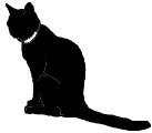 sit5 猫シルエット Cat Silhouette