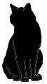 sit6 猫シルエット Cat Silhouette