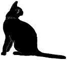 sit7 猫シルエット Cat Silhouette