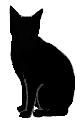 sit8 猫シルエット Cat Silhouette