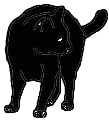 stand1 猫シルエット Cat Silhouette