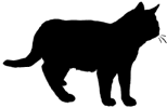 stand10 猫シルエット Cat Silhouette
