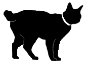 stand11 猫シルエット Cat Silhouette