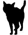 stand14 猫シルエット Cat Silhouette