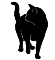 stand16 猫シルエット Cat Silhouette