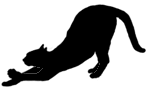 stand17 猫シルエット Cat Silhouette