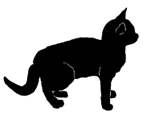 stand18 猫シルエット Cat Silhouette