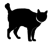 stand19 猫シルエット Cat Silhouette