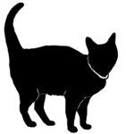 stand2 猫シルエット Cat Silhouette