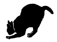 stand20 猫シルエット Cat Silhouette
