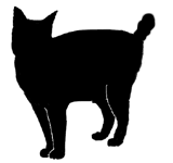 stand21 猫シルエット Cat Silhouette