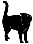 stand3 猫シルエット Cat Silhouette