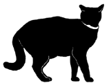 stand4 猫シルエット Cat Silhouette