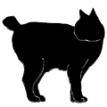 stand5 猫シルエット Cat Silhouette